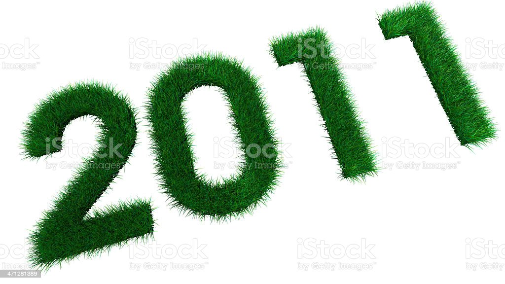 Ecological New Year 2011 Grass royalty-free stock photo