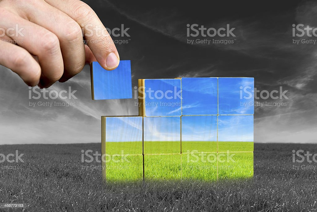 Ecological or positive concept stock photo