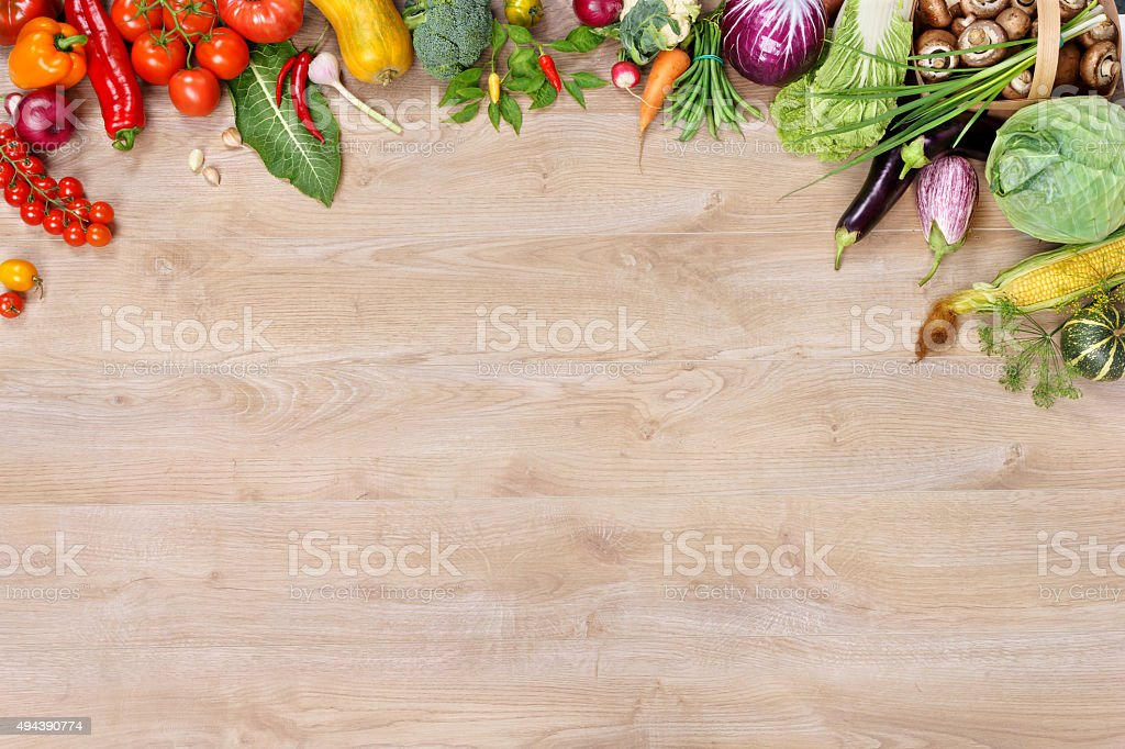 Ecological vegetables background stock photo