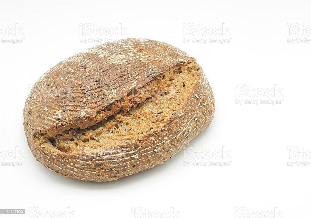 Ecológico trigo e pão de centeio com sementes de sésamo foto royalty-free