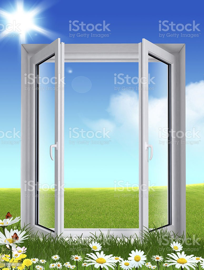 ecological window royalty-free stock photo
