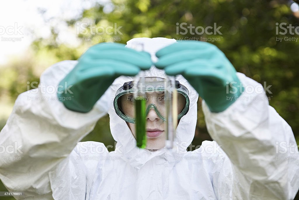 Ecology and environmental pollution. Water testing. royalty-free stock photo