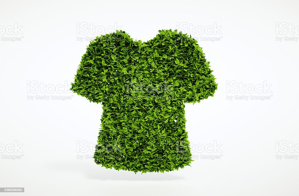 Ecology clothes concept stock photo