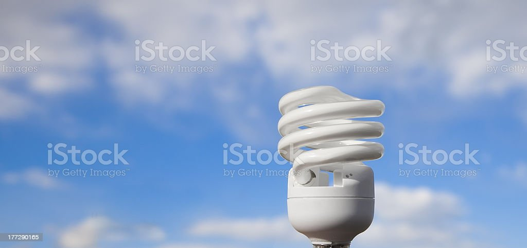 ecology concept energy saving lamp stock photo