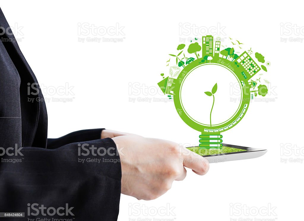 Ecology concepts stock photo