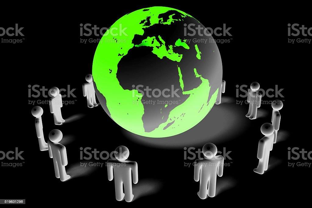 3D ecology/ environment concept stock photo