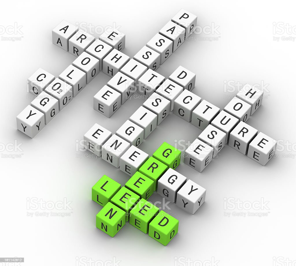 ecology green concept crossword stock photo