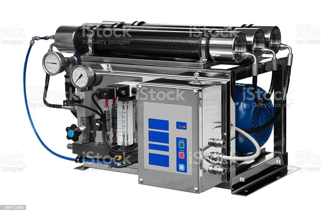 Ecology industrial water clean equipment stock photo