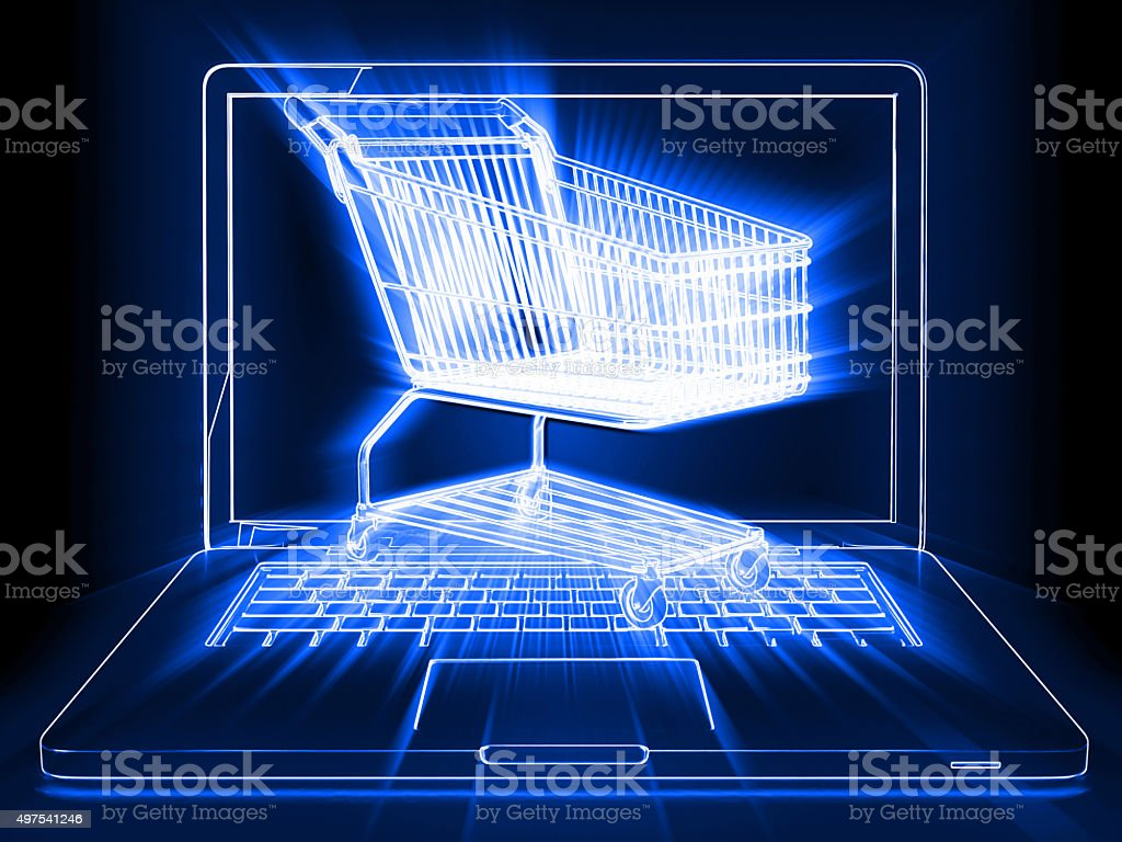 E-commerce internet shopping stock photo