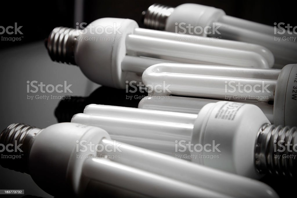Economic bulbs stock photo