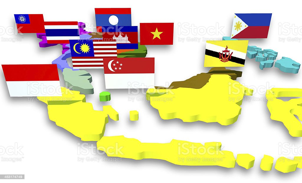 ASEAN Economic Community stock photo