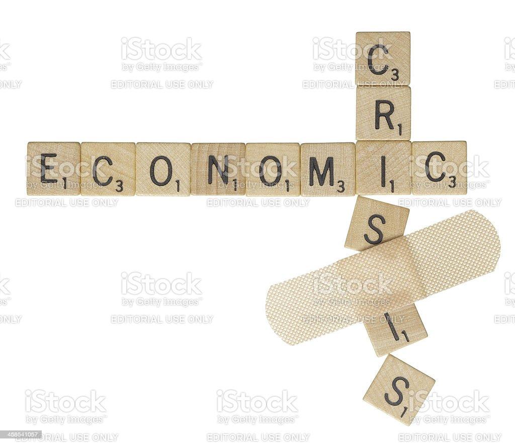 Economic crisis bandage royalty-free stock photo
