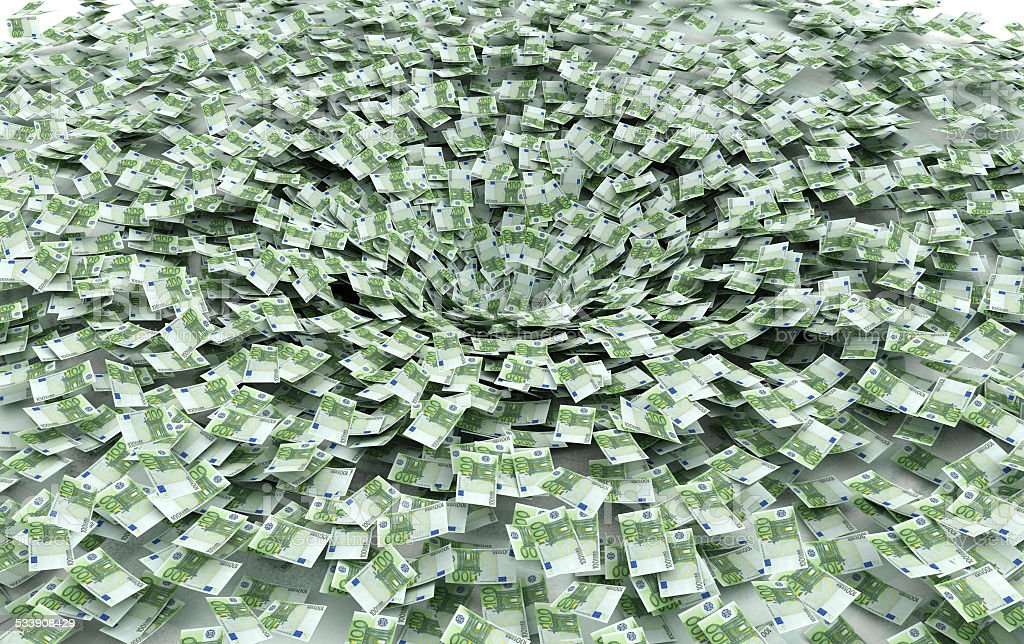 Economic crisis, the global scam, banks, collapse stock photo
