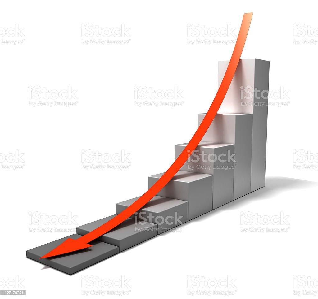 Economic depression royalty-free stock photo