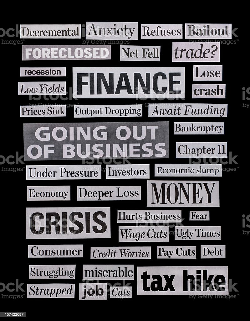 Economic depression - XXL stock photo