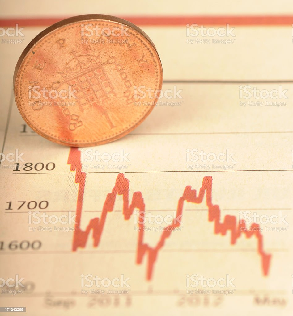 Economic down turn stock photo