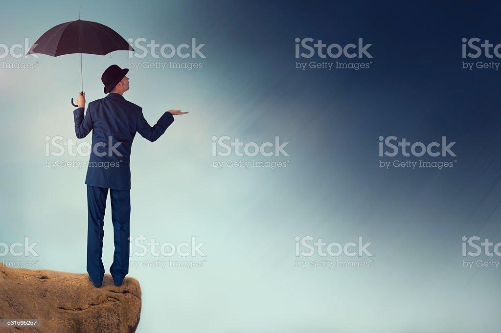 economic forecast concept stock photo