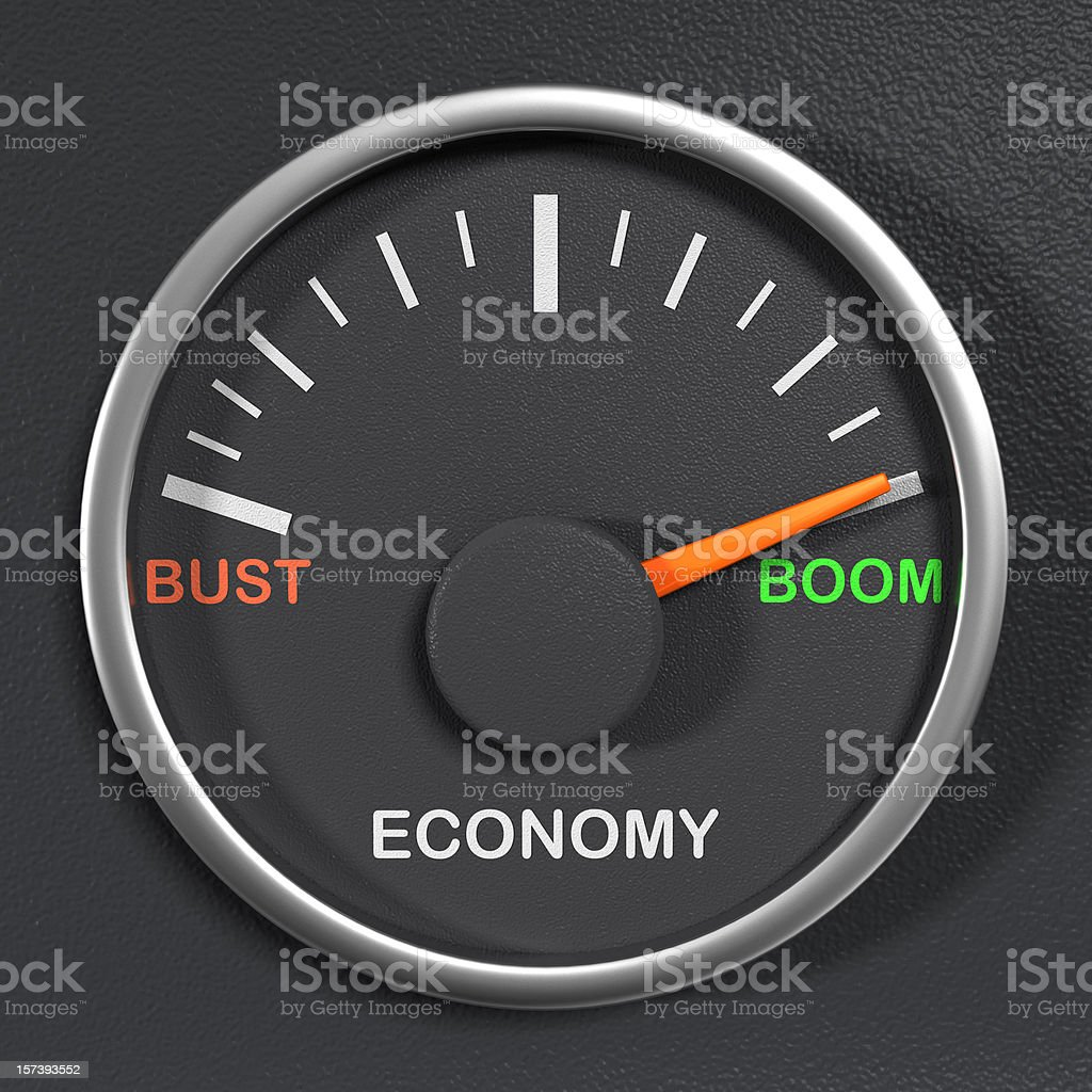 Economic Gauge royalty-free stock photo