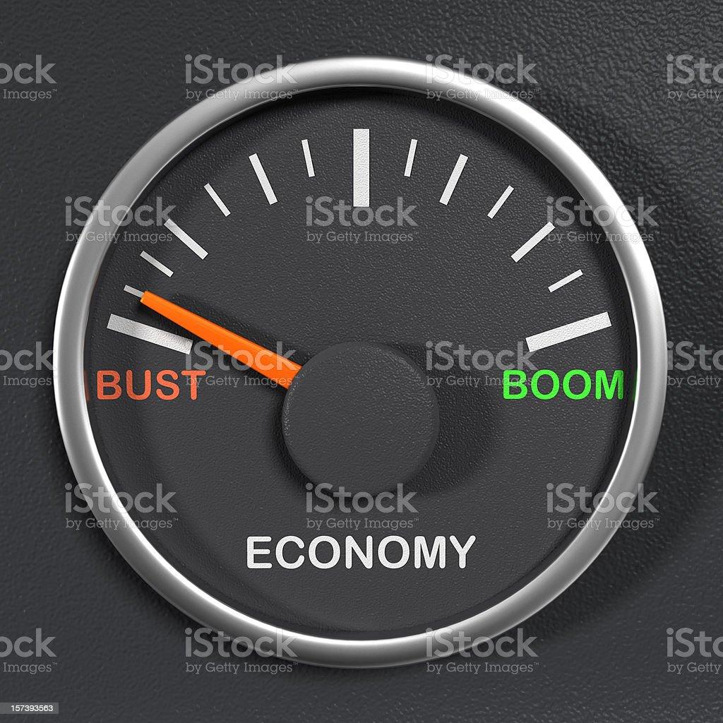 Economic Gauge stock photo