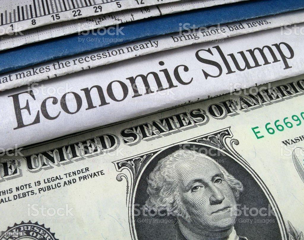 Economic Slump and Money stock photo
