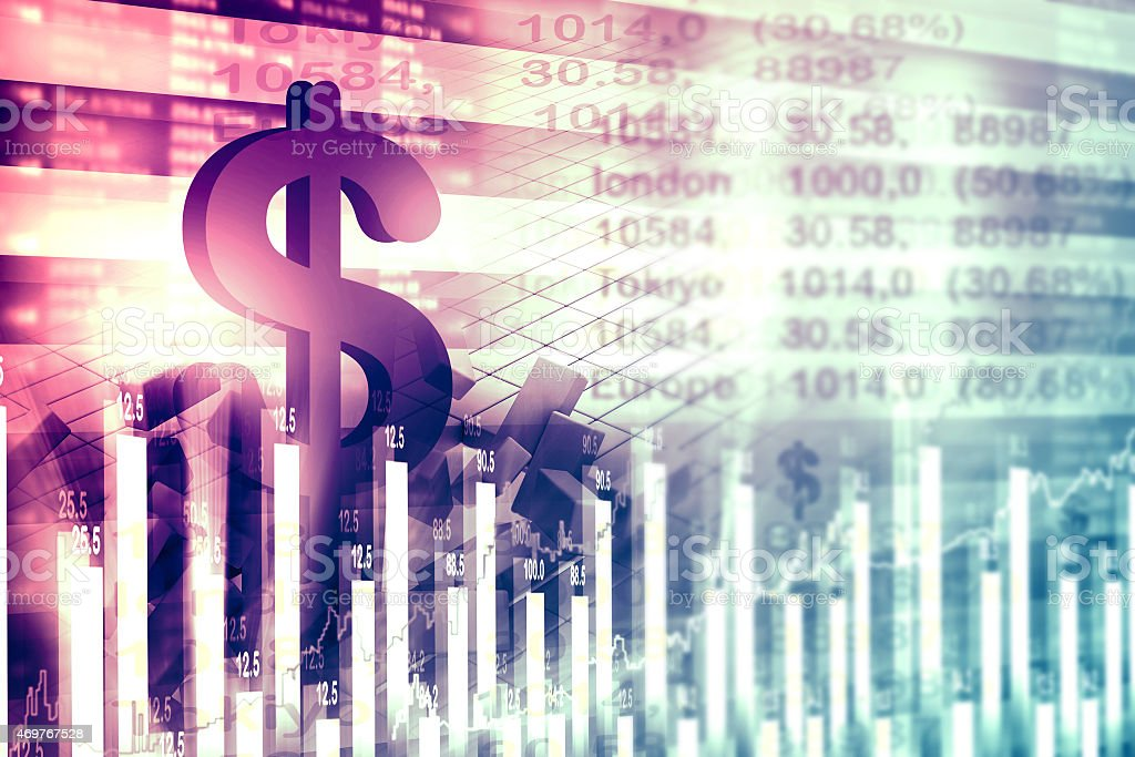 Economical stock market chart and graph stock photo