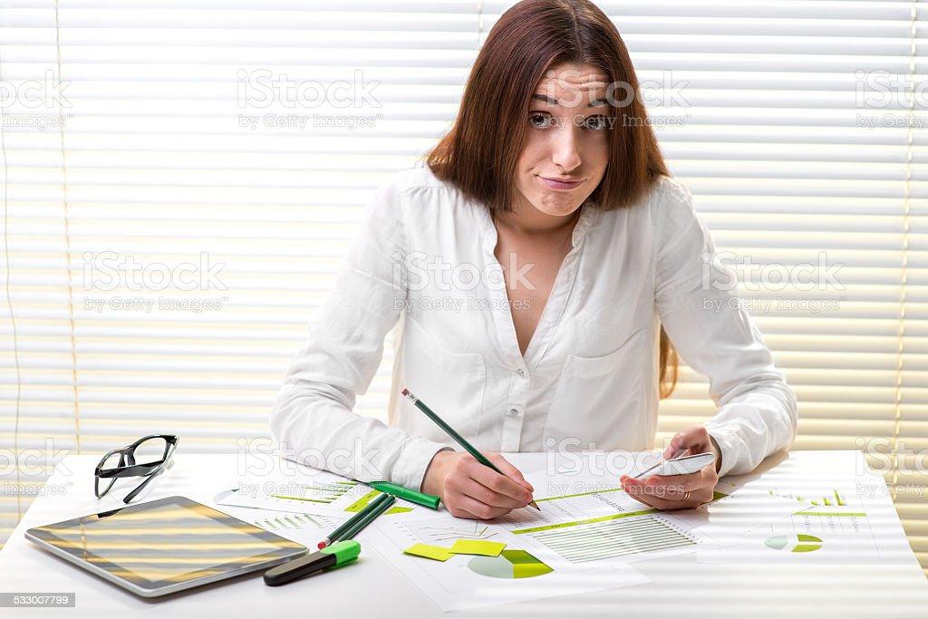 Economist working stock photo