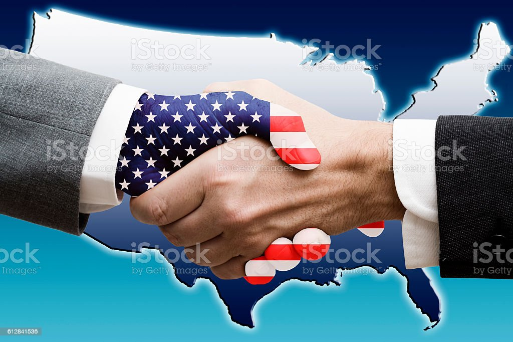 US economy agreement stock photo