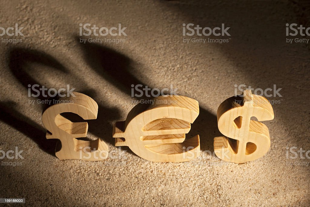 Economy and currency unit royalty-free stock photo