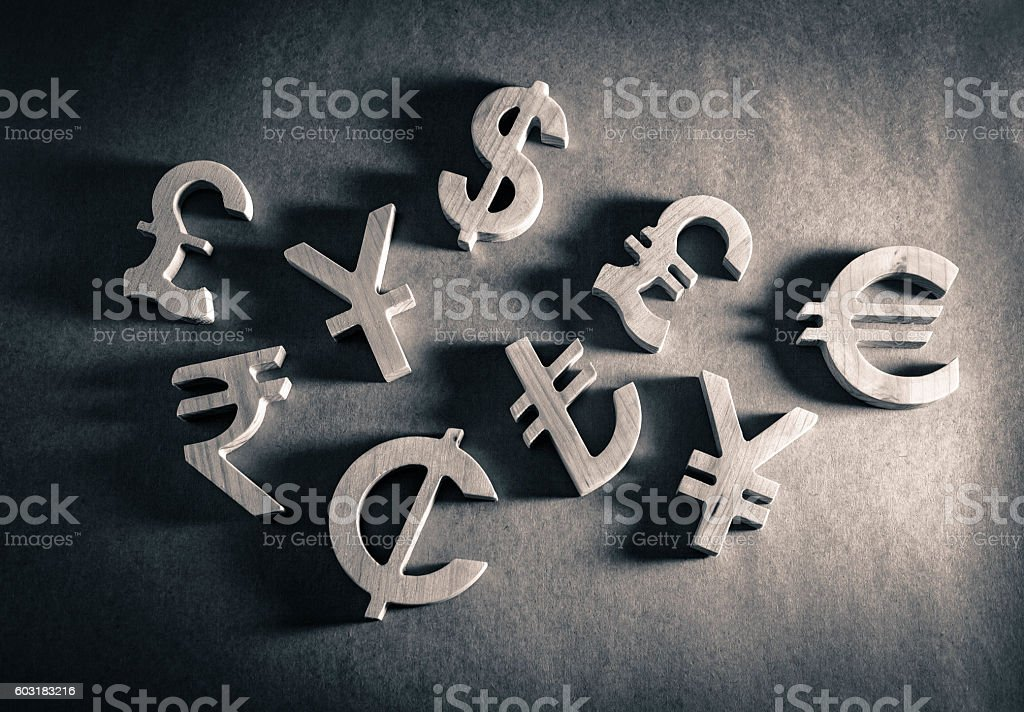 Economy and currency unit stock photo