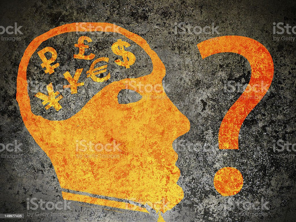 economy confusion concept royalty-free stock photo