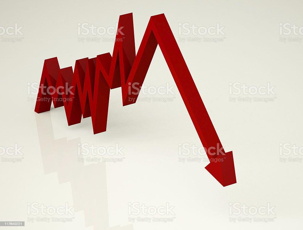 Economy Down royalty-free stock photo