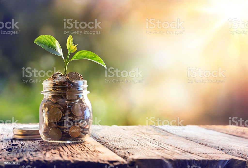 Economy, Investment And Saving Concept stock photo