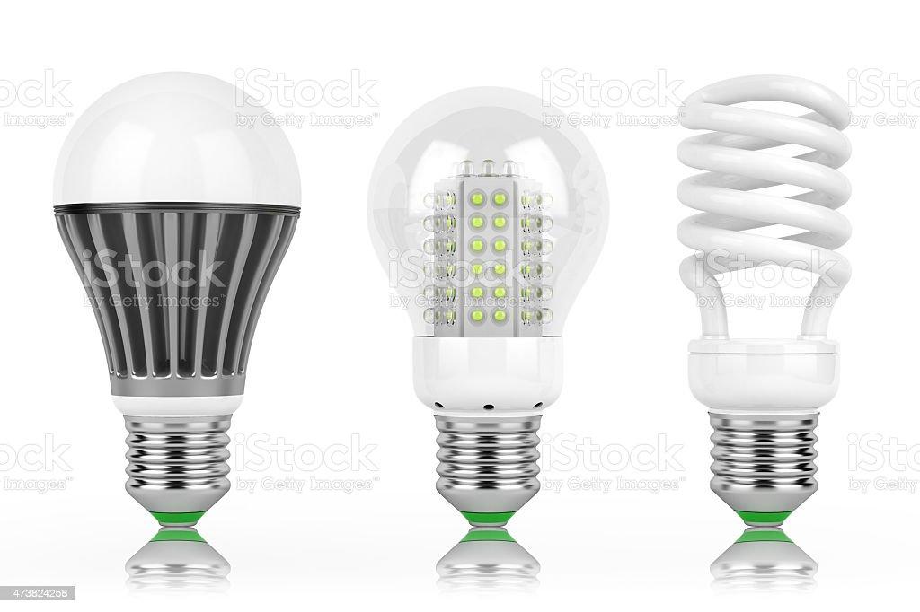 LED economy lamps stock photo