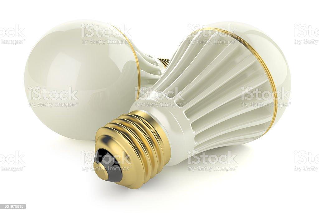 Economy LED lamps stock photo