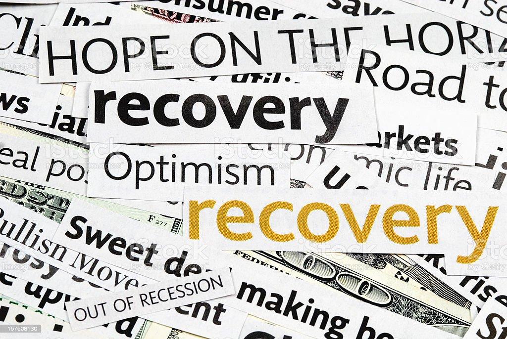 Economy recovery: News Headlines - VI stock photo