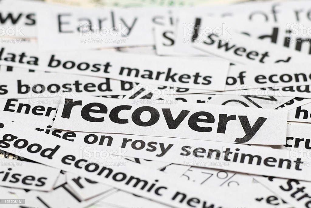 Economy recovery: News Headlines - XII royalty-free stock photo