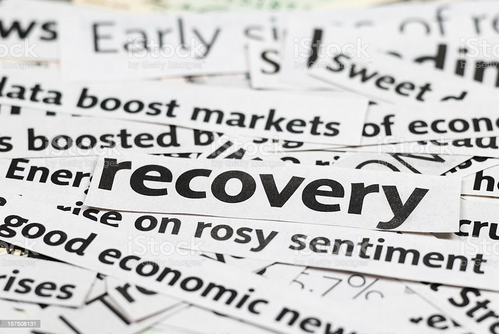 Economy recovery: News Headlines - XII stock photo