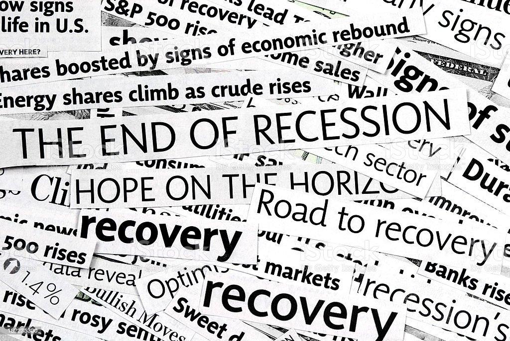 Economy recovery: News Headlines - XXII royalty-free stock photo