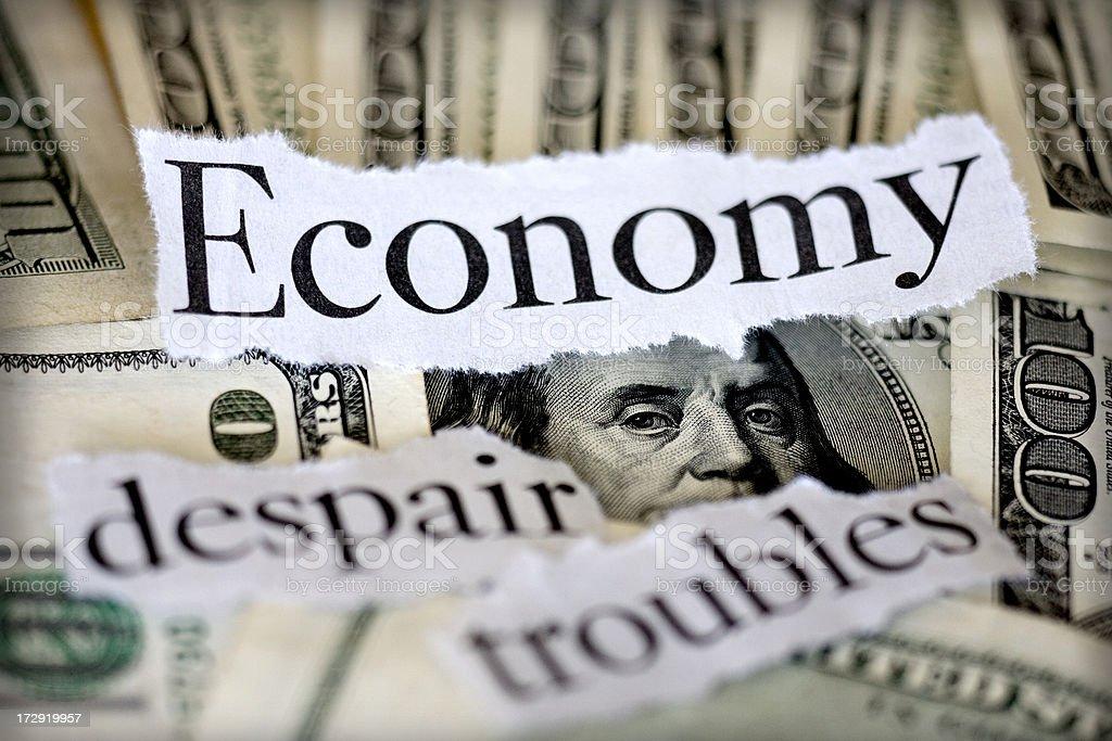economy troubles stock photo