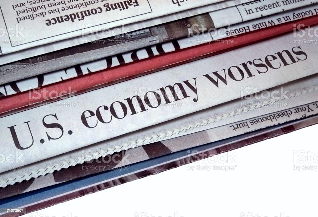 Economy Worsens royalty-free stock photo