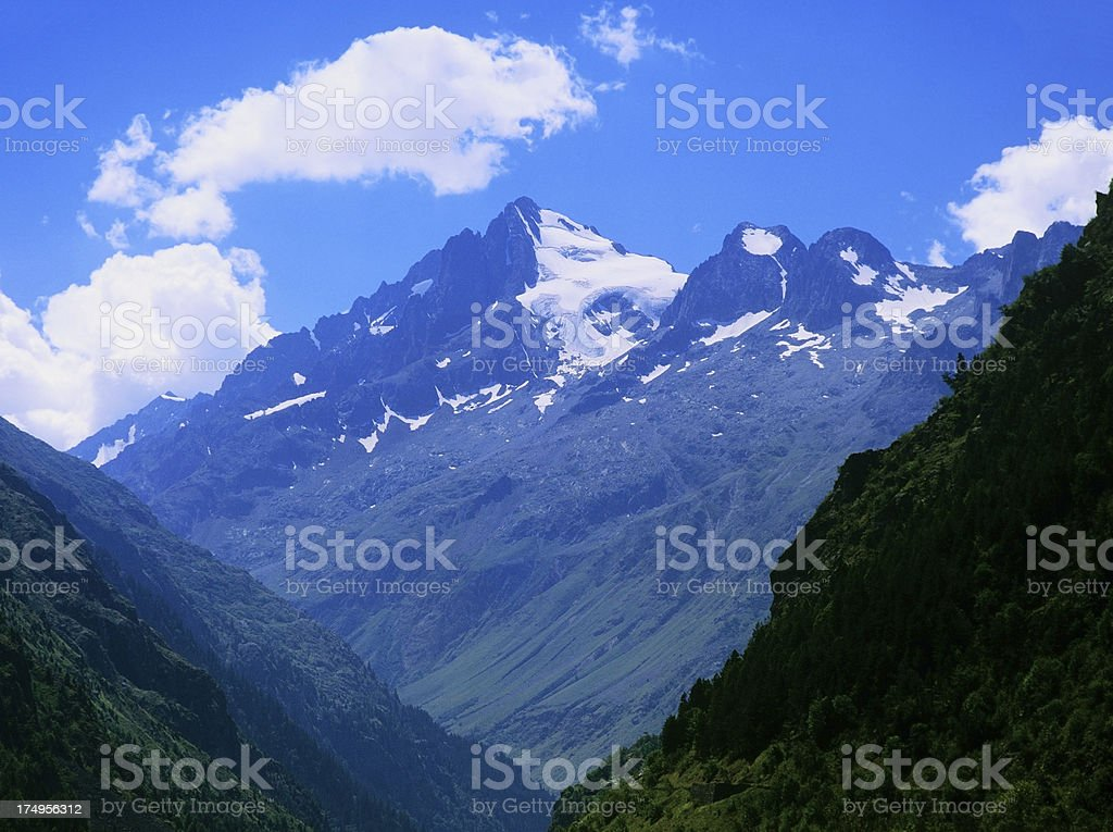 ecrins valley the french alps royalty-free stock photo