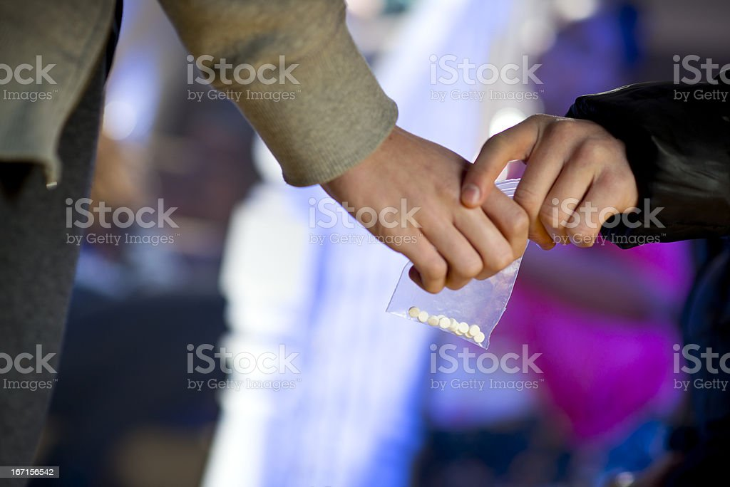 ecstasy at a house party stock photo