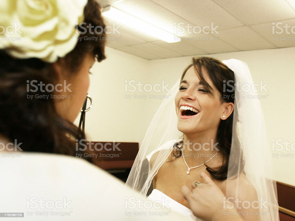 Ecstatic Bride Laughing royalty-free stock photo