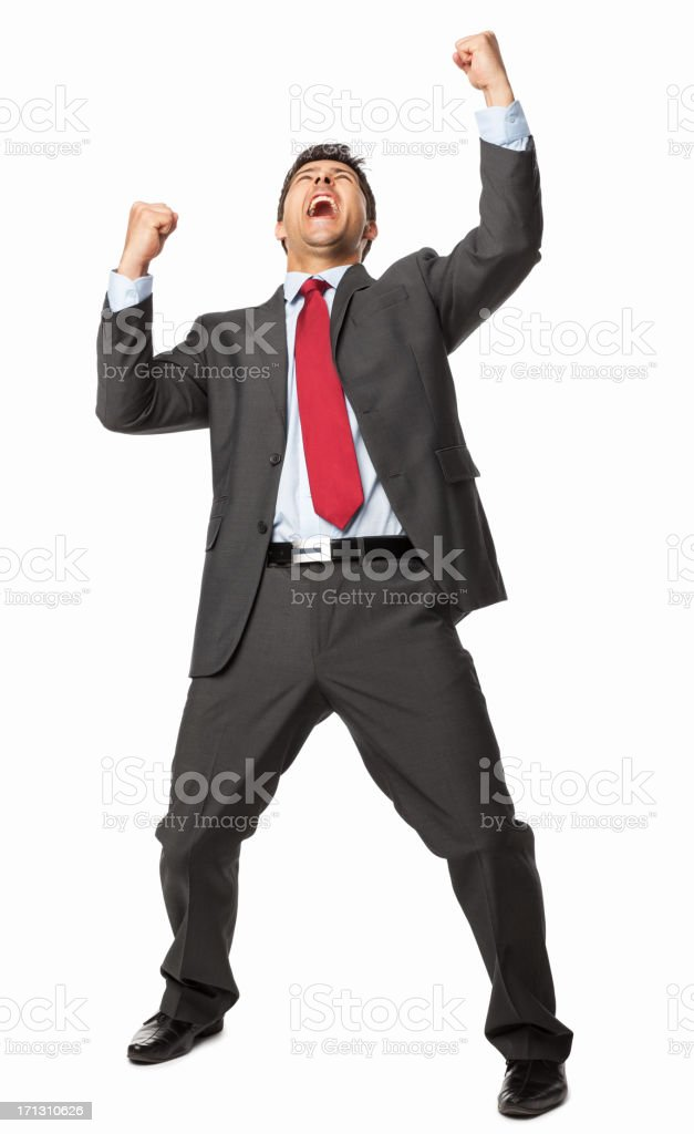 Ecstatic Business Executive - Isolated royalty-free stock photo