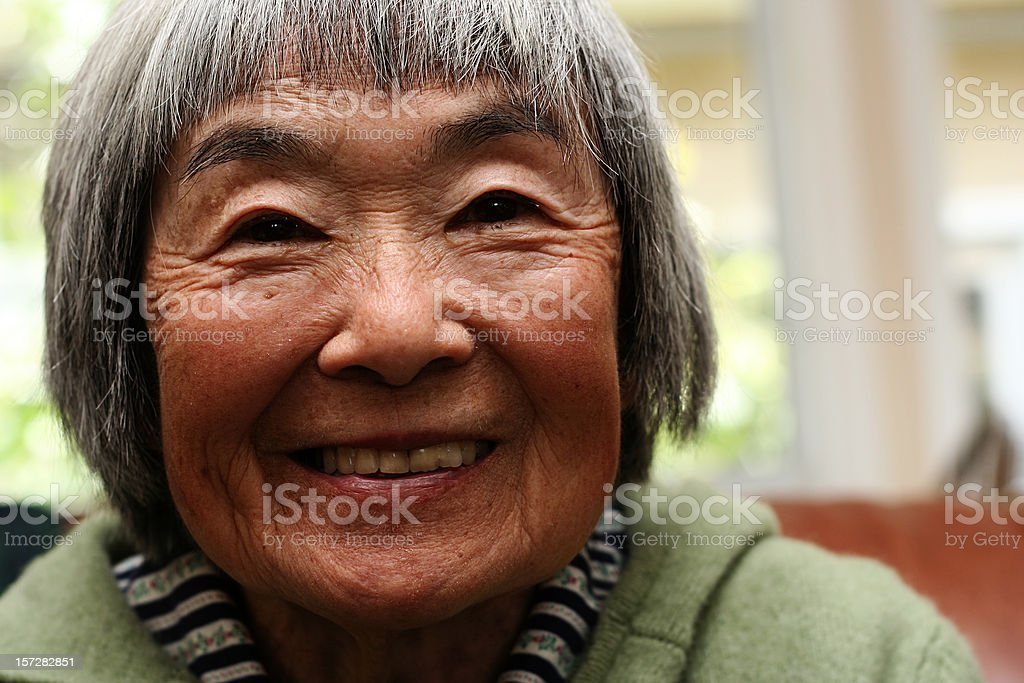 Ecstatic Japanese Woman stock photo