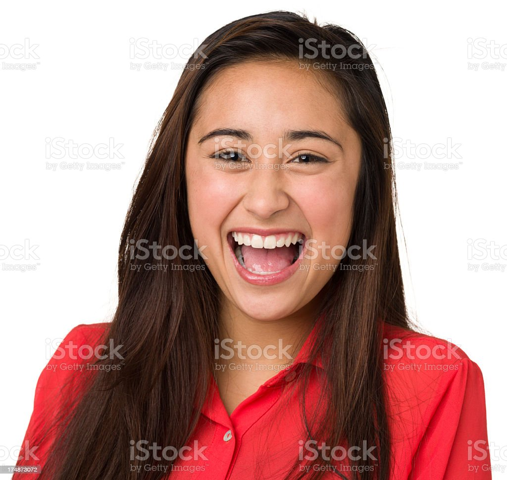 Ecstatic Laughing Teenage Girl royalty-free stock photo