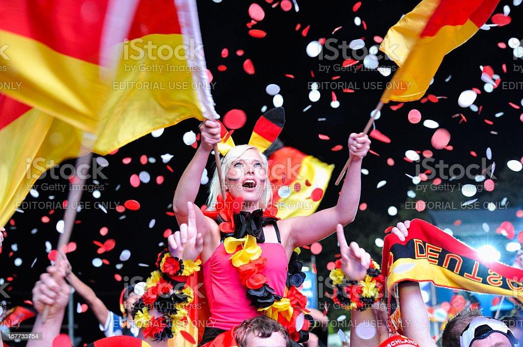 Ecstatic Soccer Fans at Public Viewing Area Brandenburger Tor