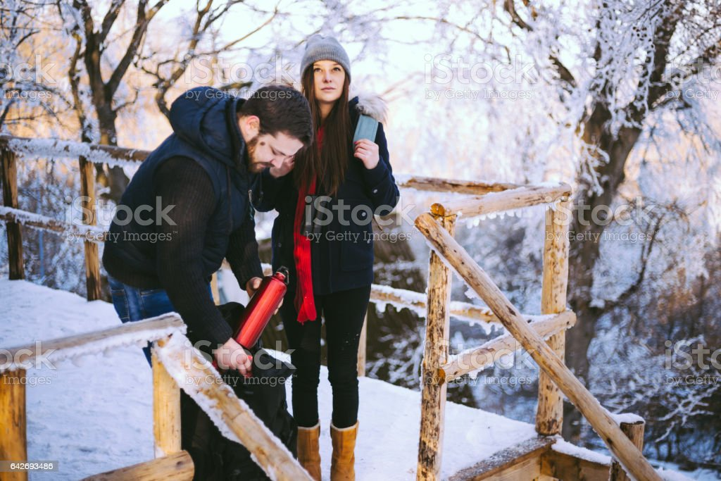 Positive Young Married Couple, Bearded Man And Brunette Woman...