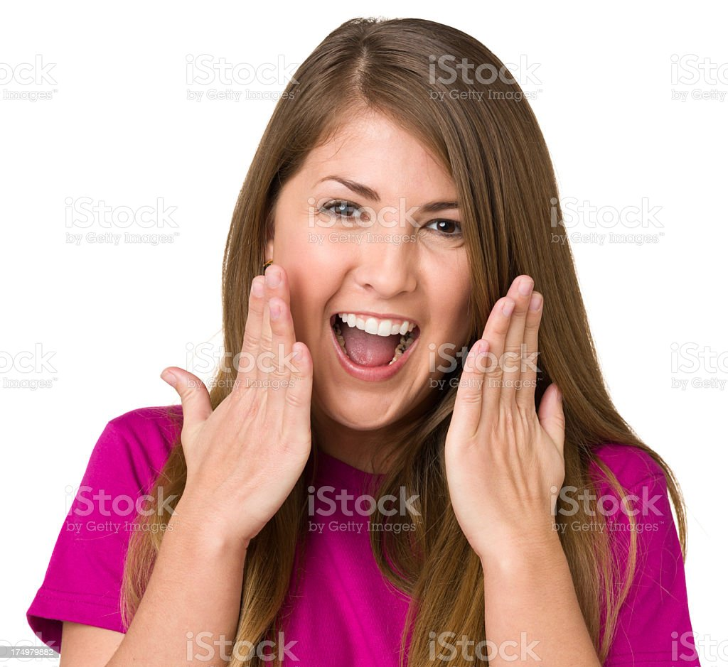 Ecstatic Young Woman royalty-free stock photo