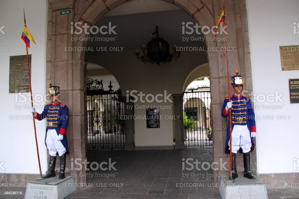 Ecuador: Carondelet Palace in Quito stock photo